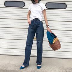 マニプリ/神戸レタス/アミアミ/UNIQLO/ユニクロ/夏ファッション/... シンプルな白Tで栄作コーデ♪ *** 👕…