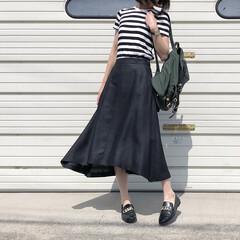 スカートコーデ/スカート/リュック/ローファー/ZARA/ザラ/... お気に入りのスカートをカジュアルに♪ *…