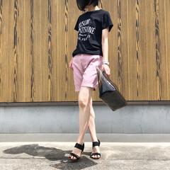 アミアミ/メゾンキツネ/ユニクロ/UNIQLO/夏コーデ/ファッション メンズ物のハーフパンツ♪ *** 👕 T…