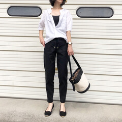 バンヤードストーム/UNIQLO/ユニクロ/夏コーデ/ファッション リネン混のシャツとパンツ♪  シャツはメ…