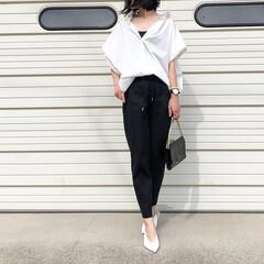 ZARA/ザラ/バンヤードストーム/ピエロ/モノトーンコーデ/夏ファッション/... オーバーサイズの白シャツ♪ *** ▫️…