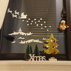 雑貨/100均/セリア/インテリア/クリスマス 階段の窓に、ちょこっとクリスマス。 持っ…(1枚目)