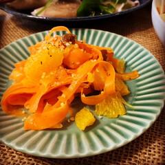 料理/パーティー料理/おもてなし料理 オレンジと人参のサラダ。