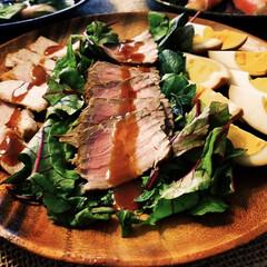 燻製/おもてなし料理/パーティー料理/料理 桜チップで燻製した ローストポークとロー…