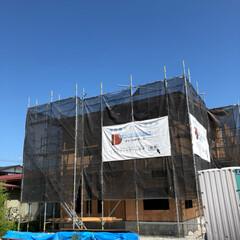 外壁も楽しみ😊/10月頃完成予定 只今建設中‼️若い年代の方の家造り 間取…