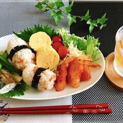 朝ごはん/ワンプレート/フード/おうちごはん 今日の 朝ごはん ☆梅干おにぎり ☆ 鯖…