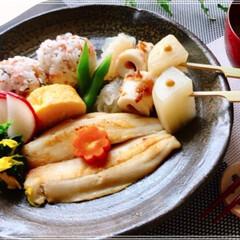 朝ごはん/フード/おうちごはん/ハンドメイド 今日の朝ごはん 桜エビふりかけご飯 鯵の…