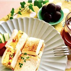 昼ごはん/ランチ/おうちごはん 昼ごはん ホット オムレツサンド    …