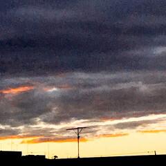 夕焼け/夕暮れ/空/ベランダからの 夕暮れ 台風の後の ベランダから 見える 夕暮れ (4枚目)