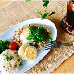 朝ご飯/ワンプレート/フード/おうちごはん おはようございます。 久しぶりの 夏日か…
