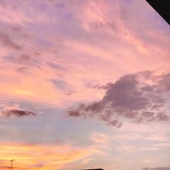 夕焼け/空 PM 7:00 今日も 夕焼けが 綺麗!…(5枚目)