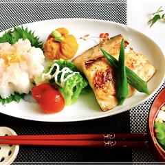 朝ごはん/お家ごはん/和食 朝ごはん 甘酢生姜ご飯 お吸い物   鯖…