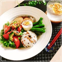 朝ご飯/ワンプレート/フード/おうちごはん おはようございます!  暑いですね  が…