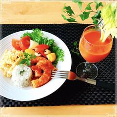 朝ご飯/ワンプレート/フード/おうちごはん おはようございます! 日曜日の朝  ゆっ…