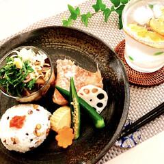 朝ご飯/和食/ワンプレート/フード/おうちごはん おはようございます! 少し 涼しい朝で …
