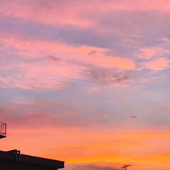夕焼け/空 PM 7:00 今日も 夕焼けが 綺麗!…(2枚目)