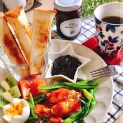 朝ごはん/ワンプレート/LIMIAごはんクラブ/わたしのごはん/おうちごはんクラブ/フード おはようございます! 今朝は、美味しいプ…(1枚目)