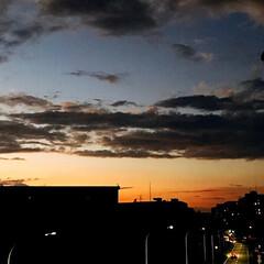 夕焼け/夕暮れ/空/ベランダからの 夕暮れ 台風の後の ベランダから 見える 夕暮れ (2枚目)