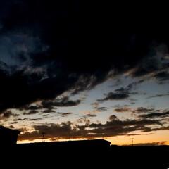 夕焼け/夕暮れ/空/ベランダからの 夕暮れ 台風の後の ベランダから 見える 夕暮れ