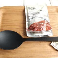 シリコーン調理スプーン 長さ約26cm   無印良品(スプーン)を使ったクチコミ「前々から気になっていて、無印良品に行った…」