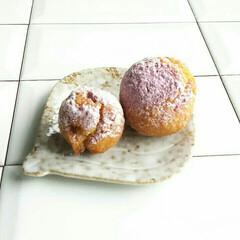 紫芋パウダー/スイーツ/簡単おやつ/サーターアンダギー/手作りおやつ 今日のおやつ🎵 子供の学校の家庭科宿題~…