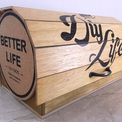 DIY/100均/セリア/ダイソー/スノコ/鍋敷き 100円の材料と端材でブレッドケース🍞を…