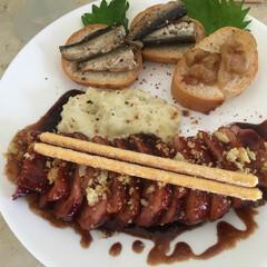 正月料理/お正月/フード/グルメ 合鴨のロースト 🦆 バルサミコ風味 イワ…