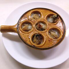 前菜 牡蠣のアヒージョ