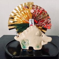 お正月飾り お正月飾り🎍 初めての陶芸教室で作った作…