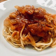 イタリアン/アマトリチャーナ/パスタ アマトリチャーナ 🍝 豚肉と玉ねぎで作る…