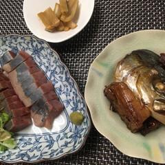 晩御飯/フード ハマチ 🐟 刺し身 炙り ゴマダレバージ…