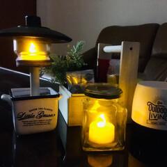 ランプ/ランタン/100均/ダイソー/セリア/インテリア/... 秋の夜長 ランプの灯りに照らされて 好き…