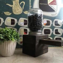 コーヒー豆ポット/インテリア/グルメ/フード/雑貨/100均/... キャンディポット🍬に似た コーヒー豆ポッ…