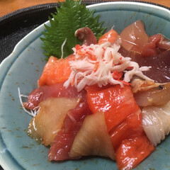 海鮮丼/フード/グルメ/ハンドメイド 海鮮丼 💕 今日はあっさりとした お料理…