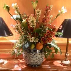 生け花/生花/おでかけ ホテルのロービの花💐