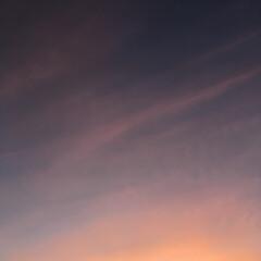 夕焼け 変わりゆく季節を感じる 今日の夕焼け 🎶