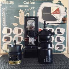 手作り/コーヒーミル/ハンドメイド/DIY/キッチン/キッチン雑貨/... 手作りのコーヒーミル☕️ コーヒーミルが…