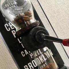 手作り/コーヒーミル/ハンドメイド/DIY/キッチン/キッチン雑貨/... 手作りのコーヒーミル☕️ コーヒーミルが…(3枚目)
