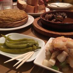 スペイン料理/おでかけ スペイン🇪🇸オムレツ 魚介のマリネ アヒ…