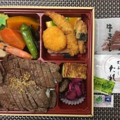 晩御飯/フード/グルメ お肉弁当🍱