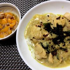 グリーンカレー/タイ料理/ランチ/フード/グルメ グリーンカレー🍛 パプリカと鶏肉の炒め物…