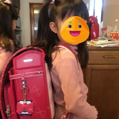 一年生/新学期/ランドセル/春の一枚 今日は双子の姪っ子ちゃんに お祝いを届け…