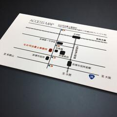 デザイン/名刺 名刺 地図デザイン
