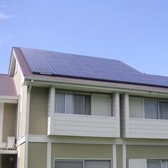 太陽光発電/屋根/省エネ/ナチュラル/自然/スマートハウス/... 南側の屋根一面に太陽光発電を設置しました。(1枚目)