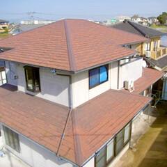 太陽光発電/屋根/省エネ/ナチュラル/自然/スマートハウス/... 塗装・太陽光を設置する前の外観(1枚目)
