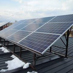 太陽光発電/屋根/省エネ/ナチュラル/自然/北海道/... 経営アパートにも太陽光発電(1枚目)