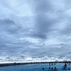 プール 夏の夕暮れ  プール