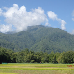「旅先の綺麗な風景〰🌞夏の空に山の緑が美し…」(1枚目)