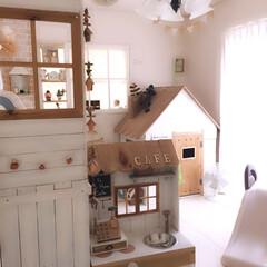 子ども部屋/おままごとキッチン/こども用/小さなお家/キッズルーム/DIY/... 子ども部屋! 手作りのおままごとキッチン…