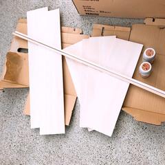 調味料ラックDIY/調味料ラック/スパイスラックDIY/スパイスラック/水性ニス/木材/... ダイソーで木材とニス(塗料)を買いました…